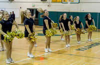 7851 Cheer and Black-Out at BBall v Granite Falls 120214