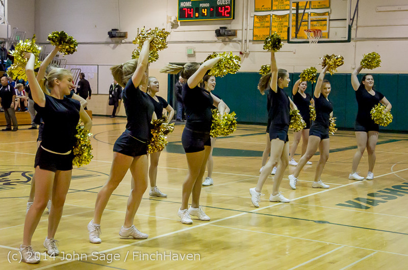 7858 Cheer and Black-Out at BBall v Granite Falls 120214