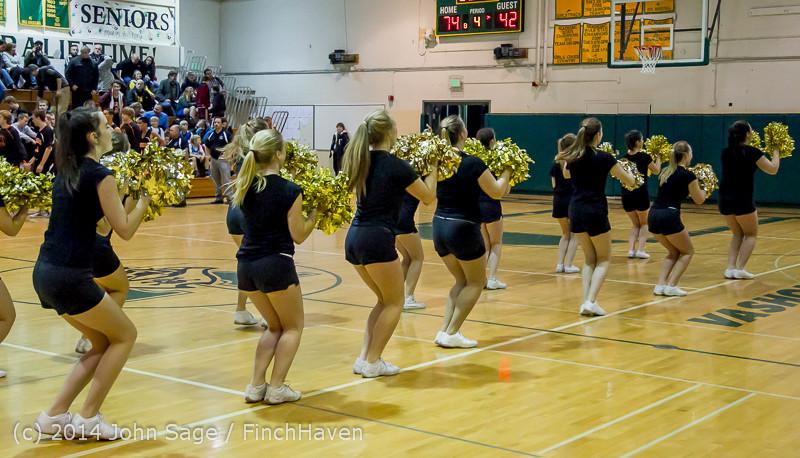 7861 Cheer and Black-Out at BBall v Granite Falls 120214