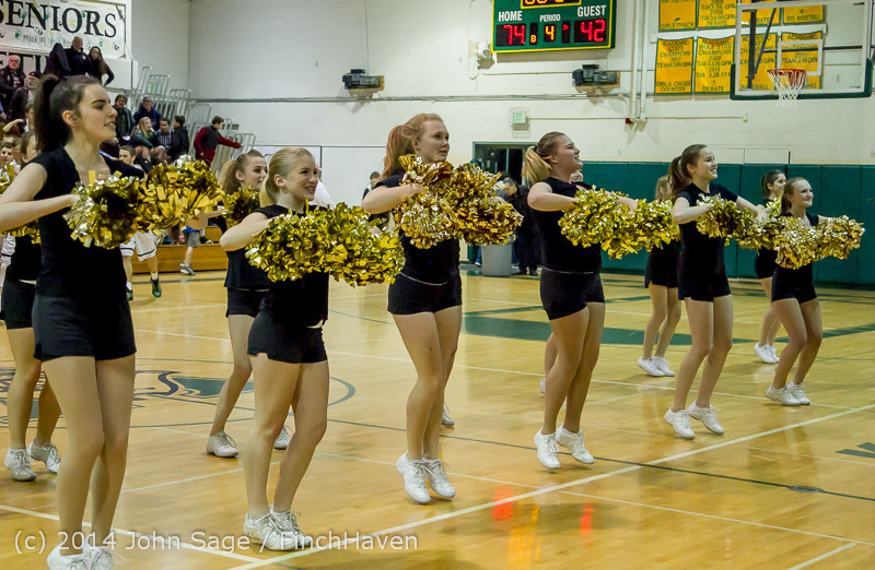 7898 Cheer and Black-Out at BBall v Granite Falls 120214