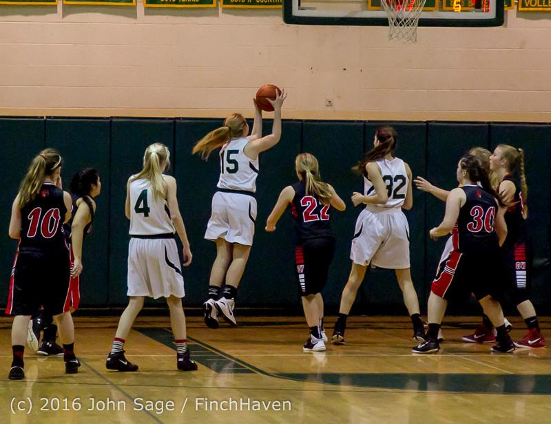 4600 Girls JV Basketball v Coupeville 122215
