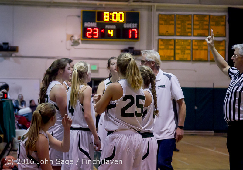 5101 Girls JV Basketball v Coupeville 122215