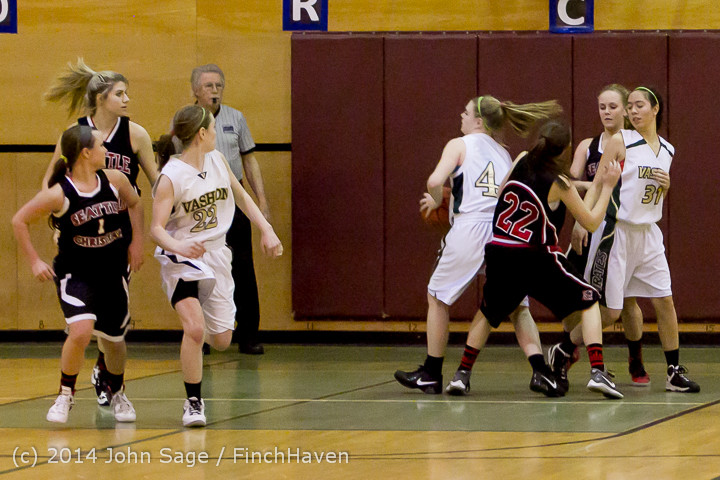 3854 Girls JV Basketball v Sea-Chr 012414