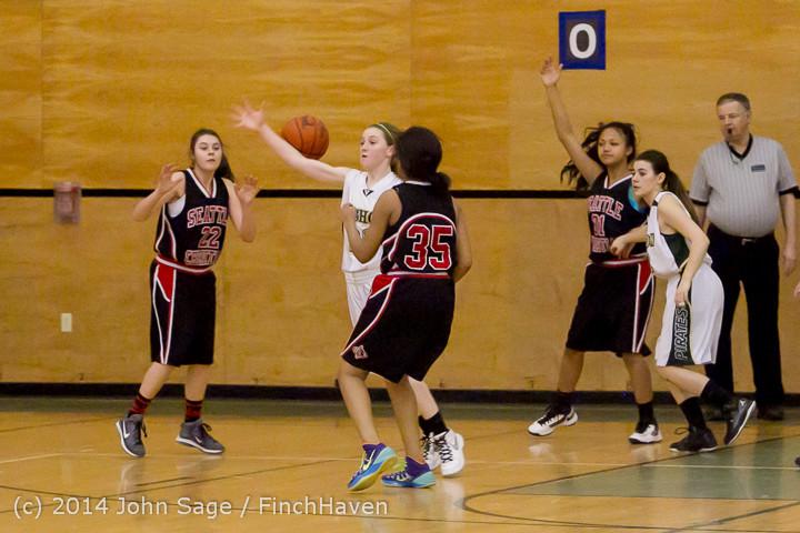 4053 Girls JV Basketball v Sea-Chr 012414