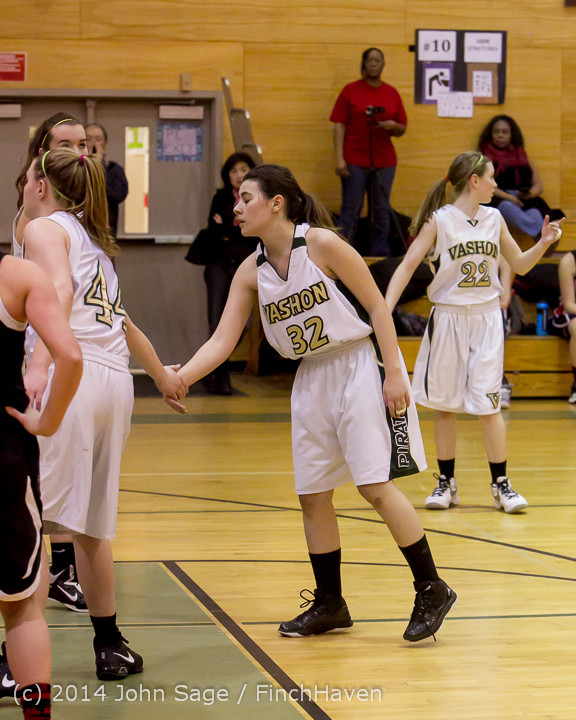 4145 Girls JV Basketball v Sea-Chr 012414