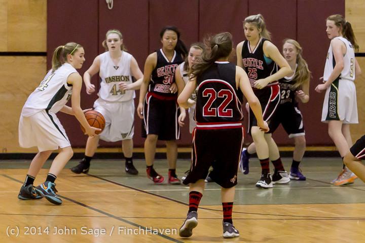 4435 Girls JV Basketball v Sea-Chr 012414