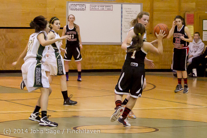4597 Girls JV Basketball v Sea-Chr 012414