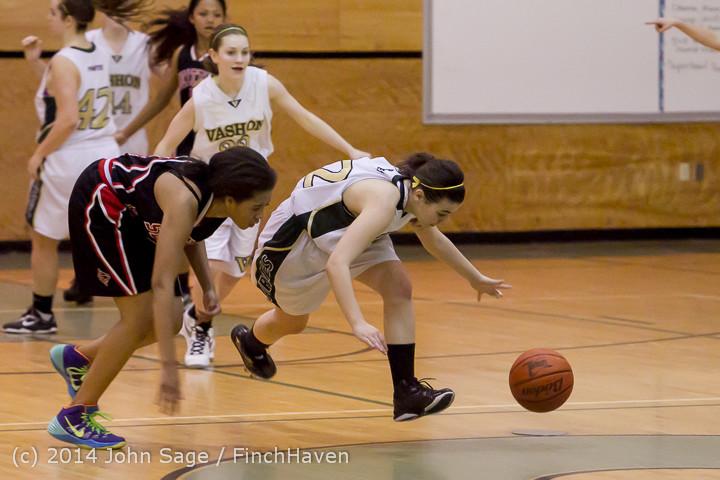 4695 Girls JV Basketball v Sea-Chr 012414