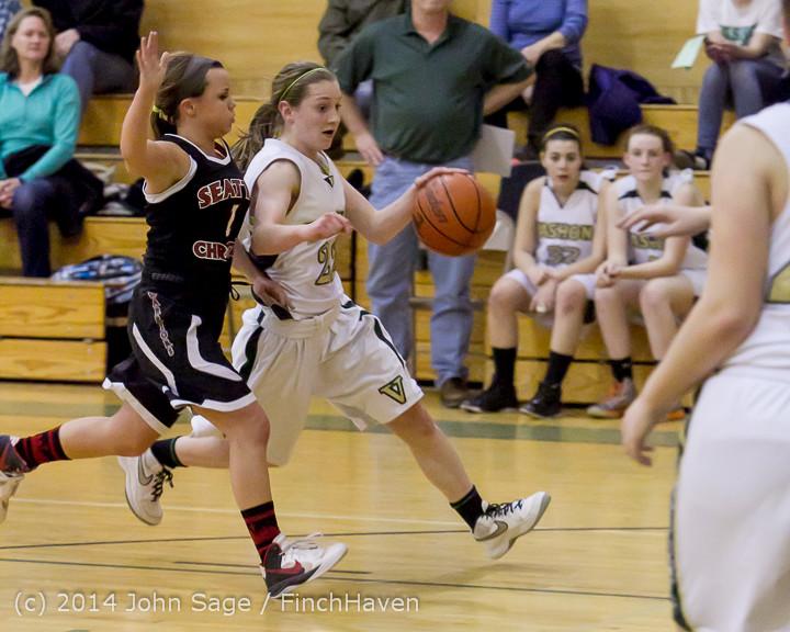 4931 Girls JV Basketball v Sea-Chr 012414