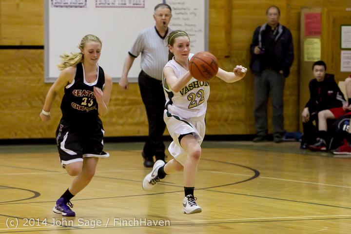 5048 Girls JV Basketball v Sea-Chr 012414