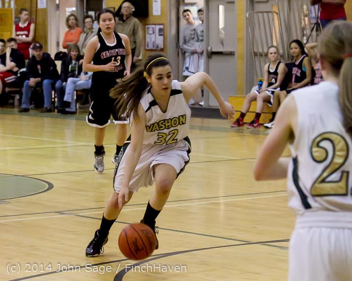 5124 Girls JV Basketball v Sea-Chr 012414