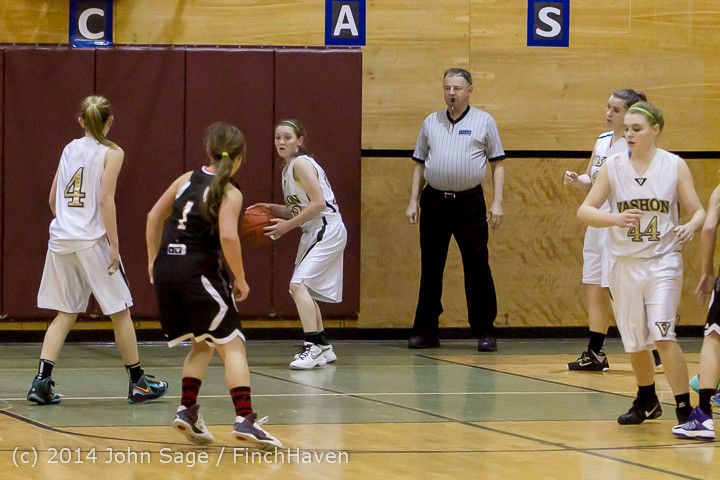 5147 Girls JV Basketball v Sea-Chr 012414