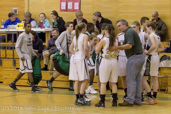 5151 Girls JV Basketball v Sea-Chr 012414