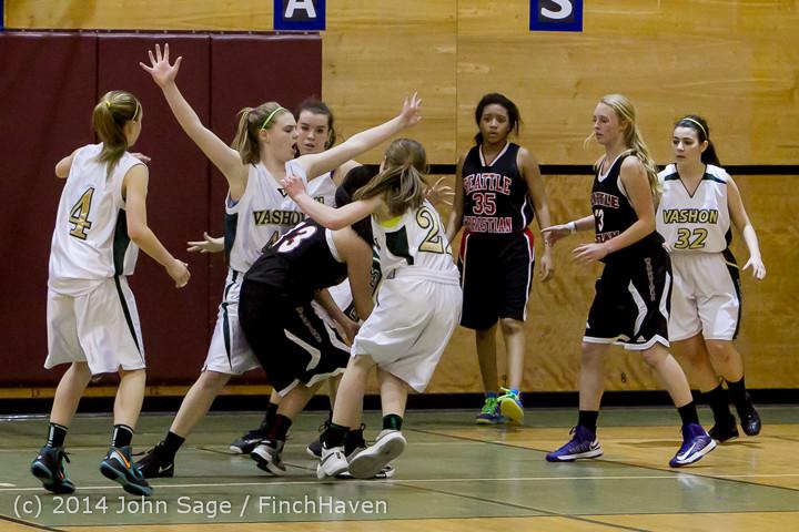 5228 Girls JV Basketball v Sea-Chr 012414