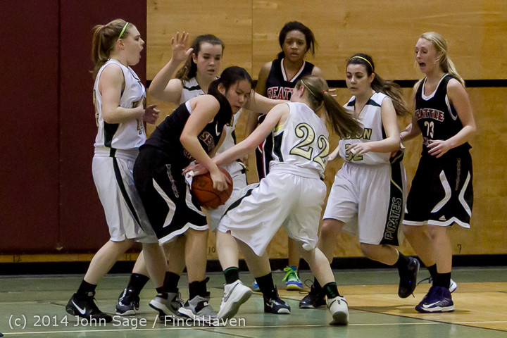 5233 Girls JV Basketball v Sea-Chr 012414