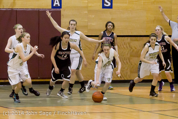 5241 Girls JV Basketball v Sea-Chr 012414