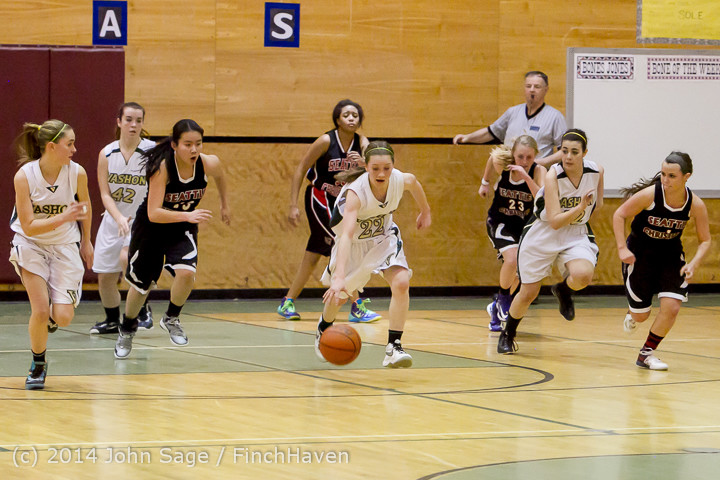 5245 Girls JV Basketball v Sea-Chr 012414