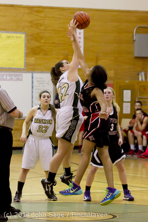 5383 Girls JV Basketball v Sea-Chr 012414