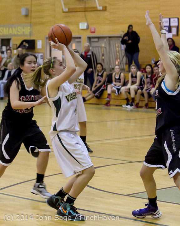 5400 Girls JV Basketball v Sea-Chr 012414