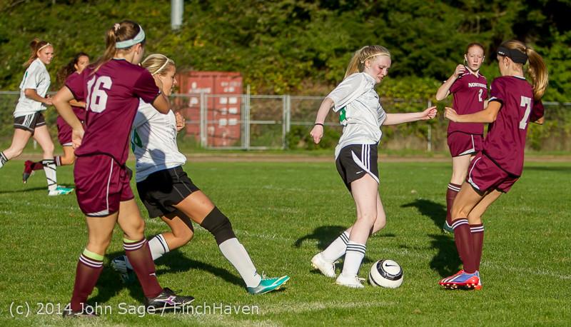 6361 Girls JV Soccer v NW-School 100814
