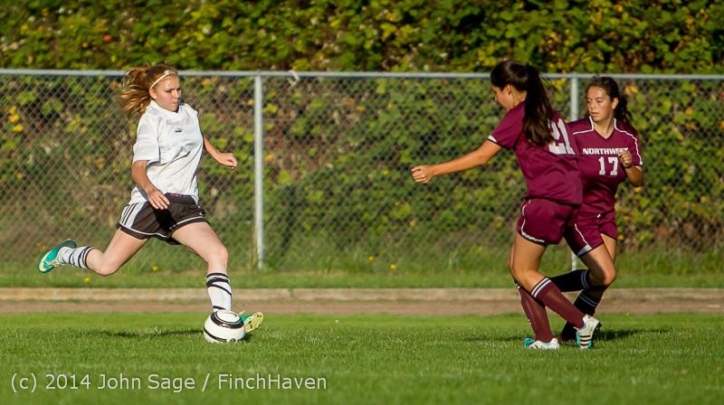 6511 Girls JV Soccer v NW-School 100814