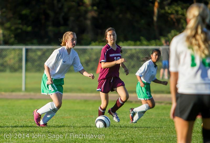 7067 Girls JV Soccer v NW-School 100814