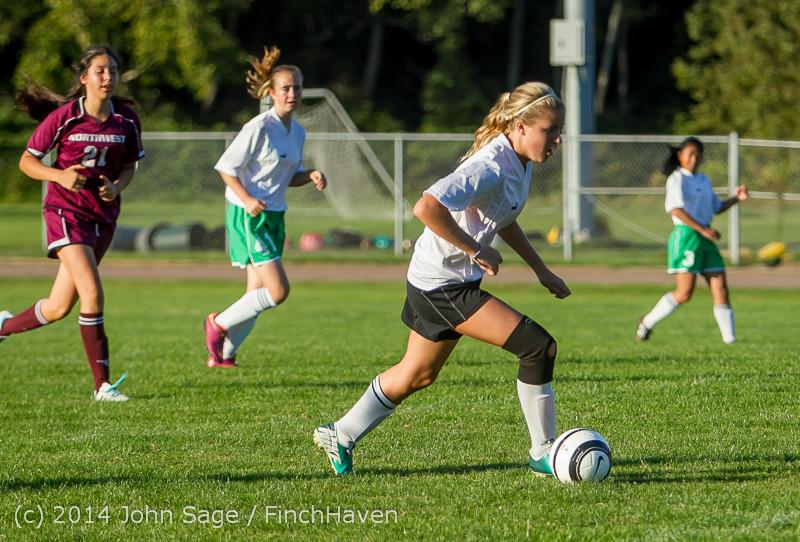 7080 Girls JV Soccer v NW-School 100814