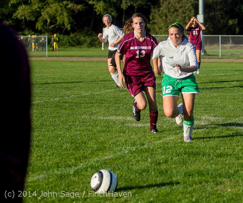 7232 Girls JV Soccer v NW-School 100814