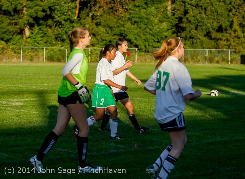 7876 Girls JV Soccer v NW-School 100814