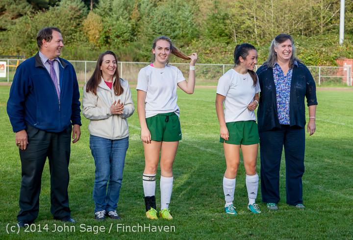 7725 VHS Girls Soccer Seniors Night 2014 101614