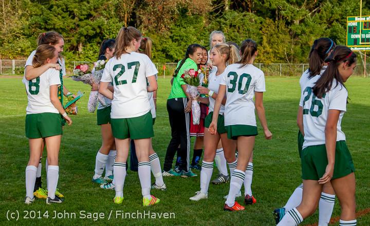 7772 VHS Girls Soccer Seniors Night 2014 101614