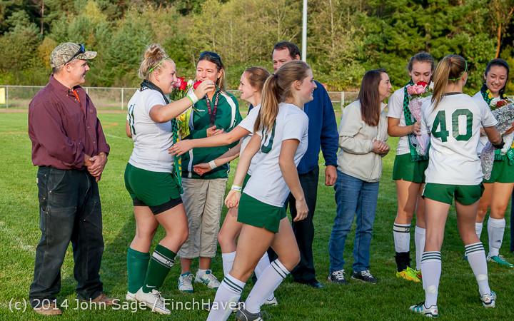 7779 VHS Girls Soccer Seniors Night 2014 101614