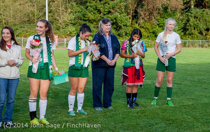 7791 VHS Girls Soccer Seniors Night 2014 101614