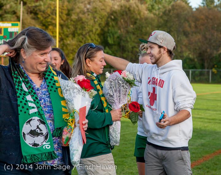 7805 VHS Girls Soccer Seniors Night 2014 101614