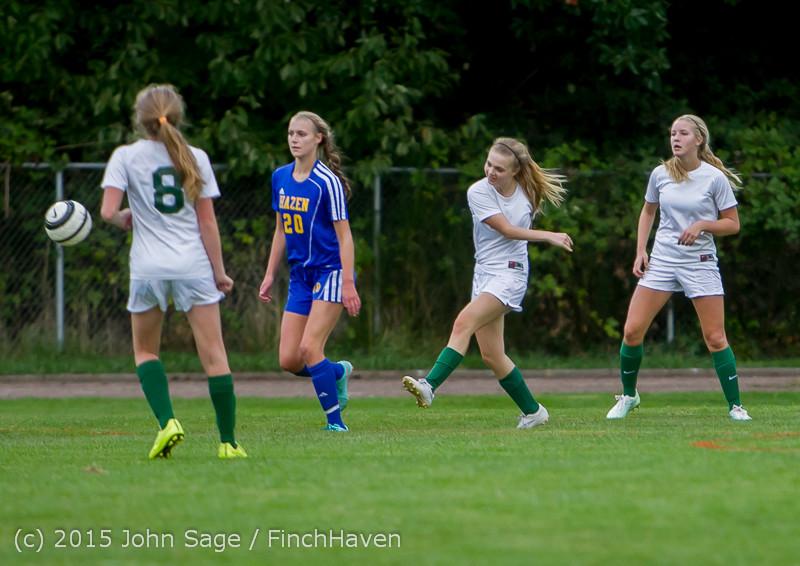 20938 Girls Soccer v Hazen 091615