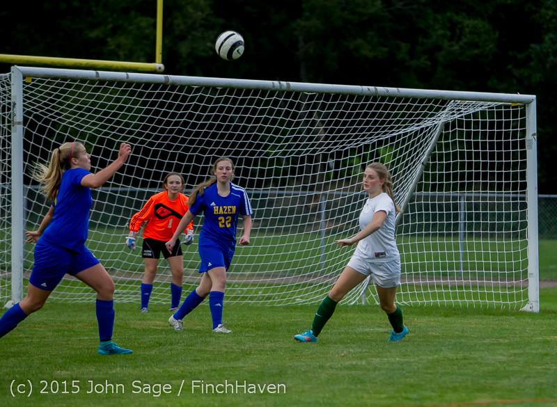 21501 Girls Soccer v Hazen 091615