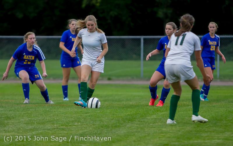 21618 Girls Soccer v Hazen 091615