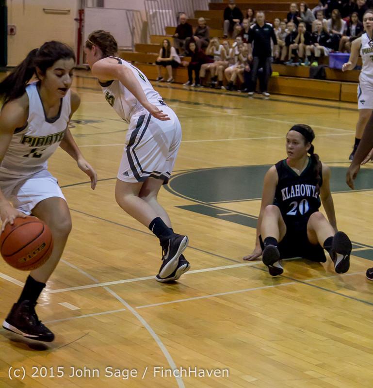 15354 Girls Varsity Basketball v Klahowya 120915