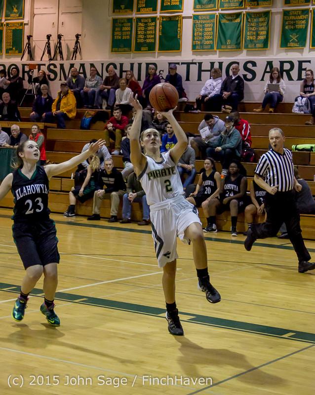 15543 Girls Varsity Basketball v Klahowya 120915