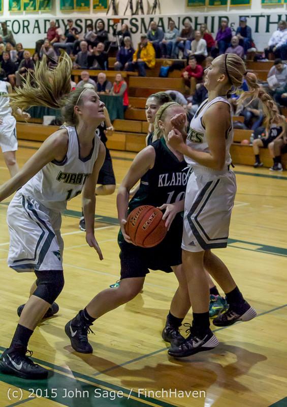 15556 Girls Varsity Basketball v Klahowya 120915