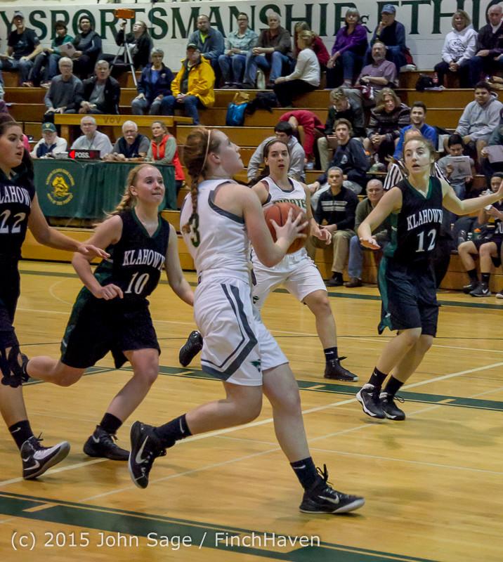 15591 Girls Varsity Basketball v Klahowya 120915