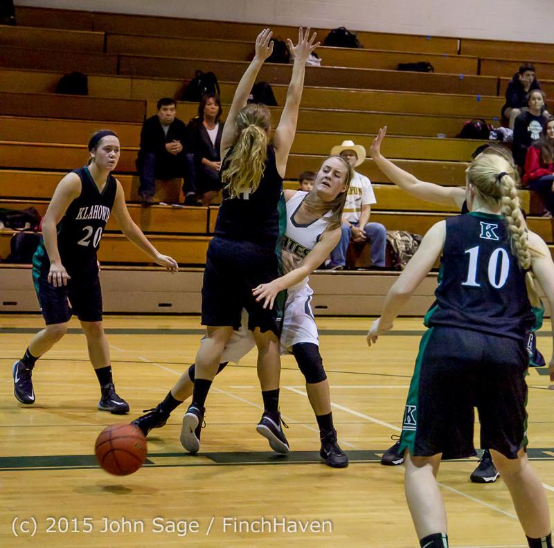 15713 Girls Varsity Basketball v Klahowya 120915