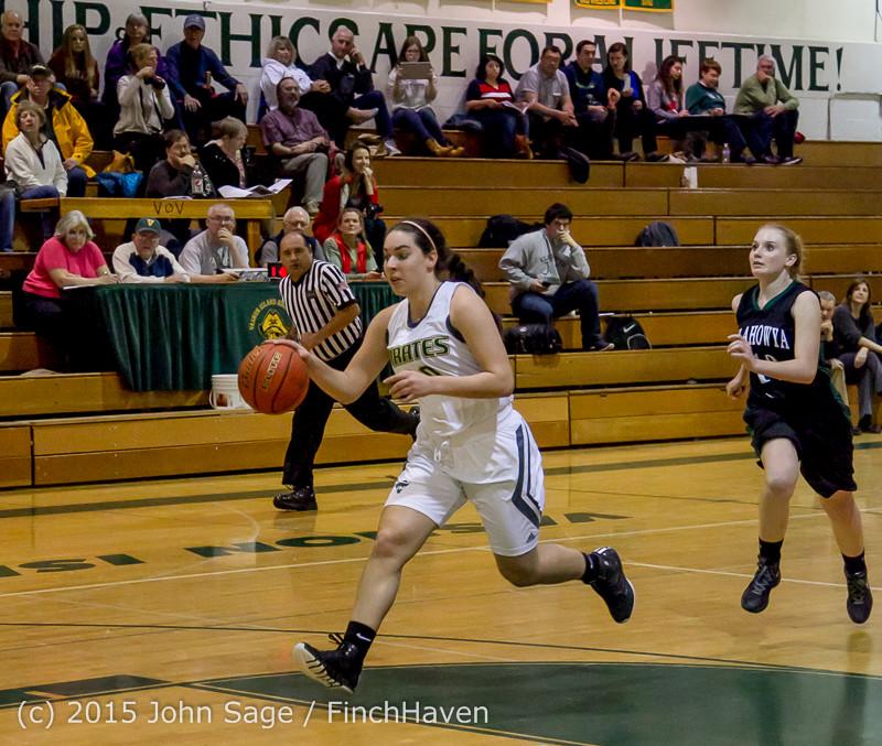 16052 Girls Varsity Basketball v Klahowya 120915