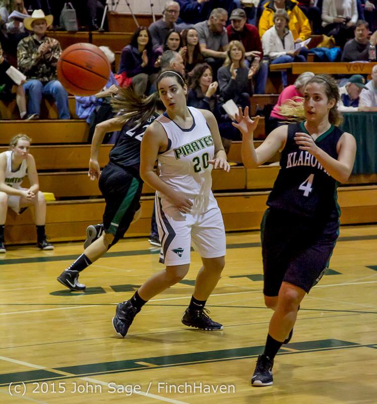 16082 Girls Varsity Basketball v Klahowya 120915