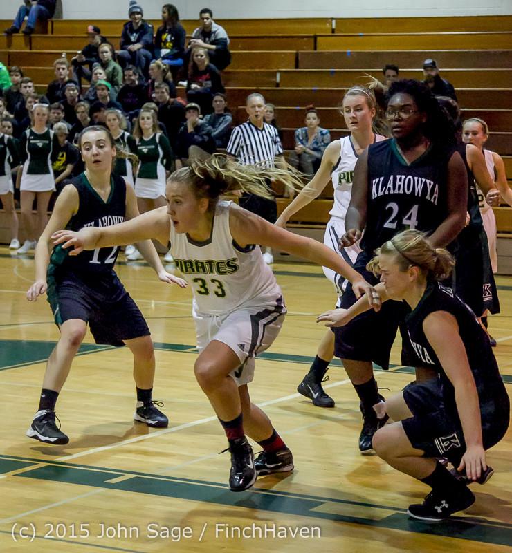 16691 Girls Varsity Basketball v Klahowya 120915