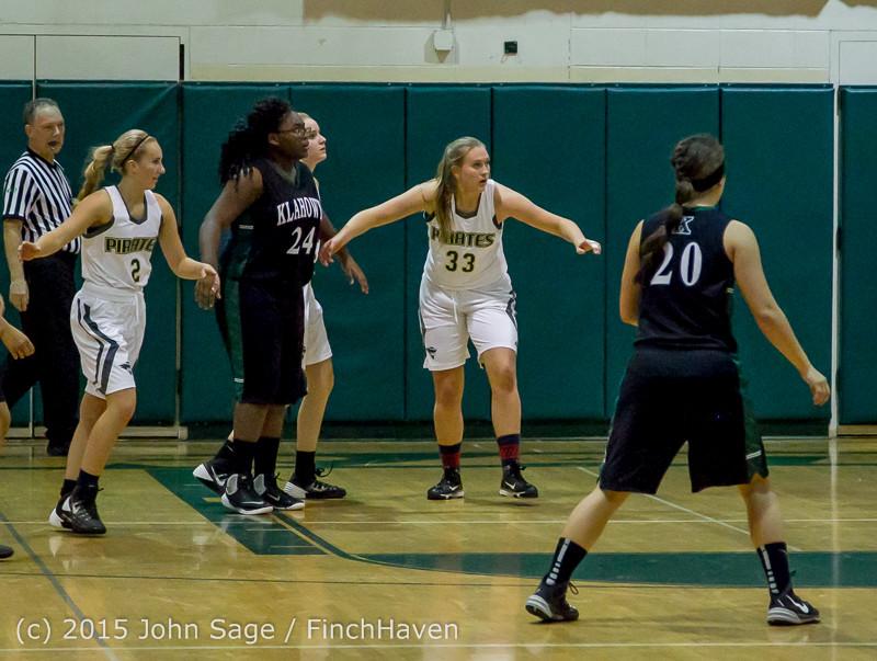 16717 Girls Varsity Basketball v Klahowya 120915