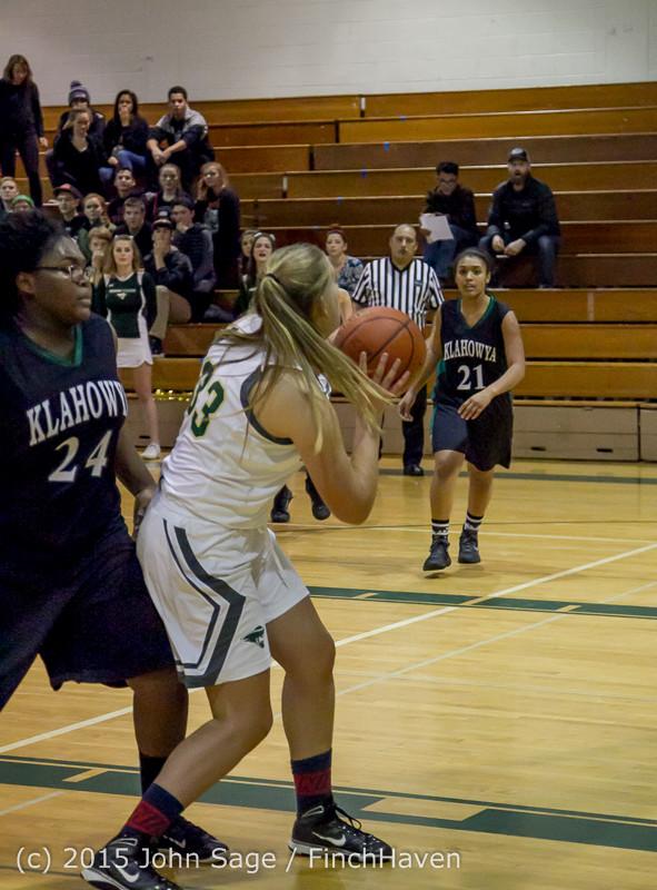 16739 Girls Varsity Basketball v Klahowya 120915
