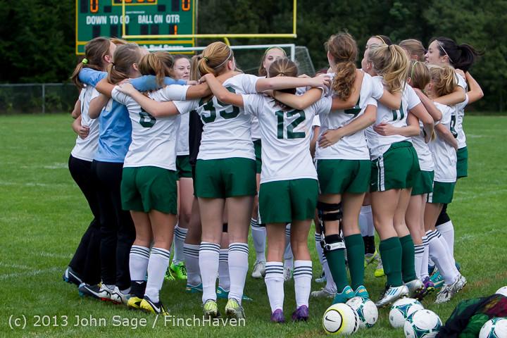 7383 Girls Soccer v Life-Chr 092313