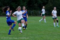 7465 Girls Soccer v Life-Chr 092313
