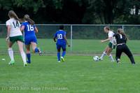 7505 Girls Soccer v Life-Chr 092313